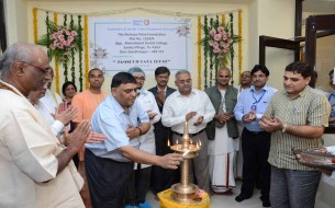 Akshaya Patra Chief Operating Officer, Mr. R. Madan inaugurates the lab