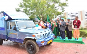 Sudha Murty flags off drinking water vehicles